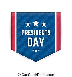 Presidents day banner or badge isolated on white background...