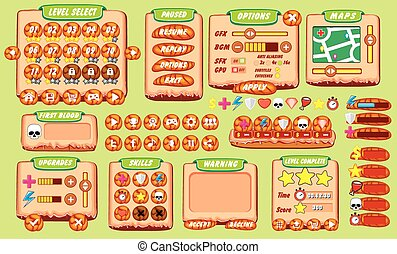 game gui - Complete set of graphical user interface (GUI) to...