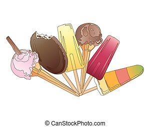 ice cream - a vector illustration in eps 10 format of a...
