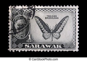 Vintage Sarawak postage stamp - SARAWAK - CIRCA 1940:...