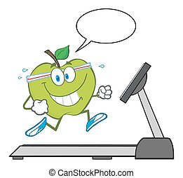 Healthy Green Apple Character
