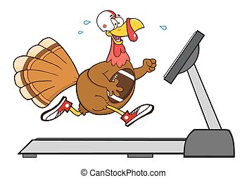 Football Turkey Bird Running