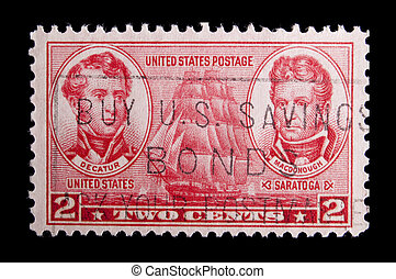 Vintage US Navy commemorative postage stamp - UNITED STATES...