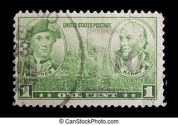 Vintage US Navy commemorative postage stamp - UNITED STATES...