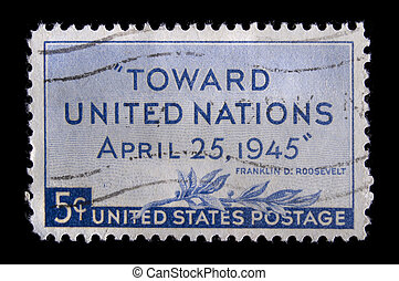 Vintage US commemorative postage stamp - UNITED STATES-...