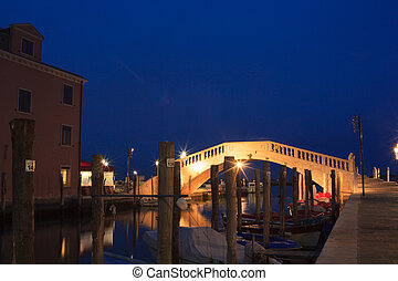 Vigo Bridge, Chioggia - View of the Vigo bridge in Chioggia,...