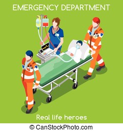 Hospital 22 People Isometric - Clinic Emergency Department...