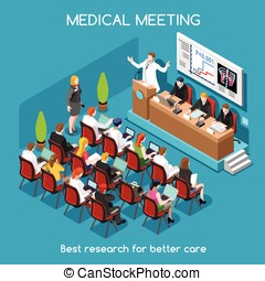 Medical Meeting People Isometric - Medical Symposium...
