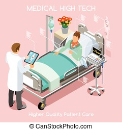 Patient Visit People Isometric - High Tech Healthcare...