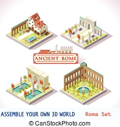 Roman Tiles Isometric - Ancient Rome Tiles for Online...