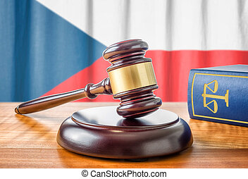 A gavel and a law book - Czech Republic
