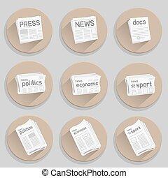 newspaper press icon