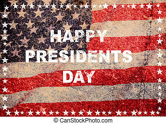 Happy president day greeting card