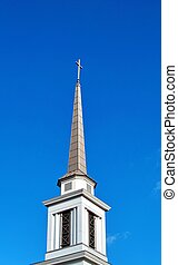 Church Steeple - A sharp pointed modern church steeple