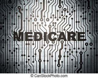 Health concept: circuit board with Medicare - Health...