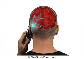 Phone radiation - Phone emits waves in the brain of a person