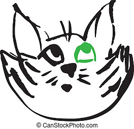 Cat cartoon head