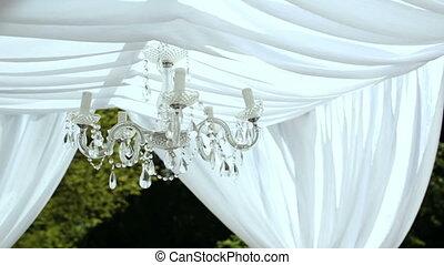 Wedding decorations. crystal chandelier on a arch - Wedding...