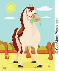 Horse in the Wild West Illustration