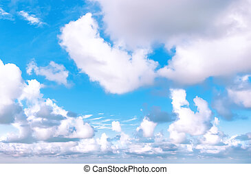 White clouds in blue sky - blue sky and white cirrus and...
