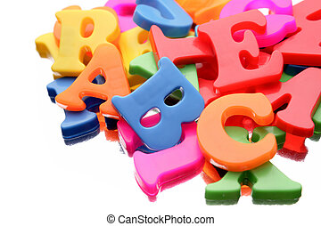 Alphabet letters - Alphabet letters on white background...