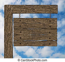 Old Wooden Signpost