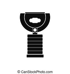 Sports cup black simple icon