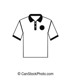 White men polo shirt icon