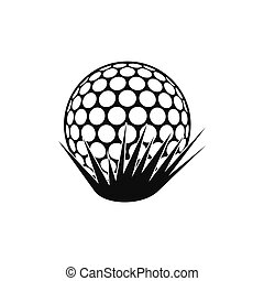 Golf ball on grass icon