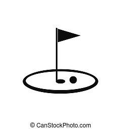 Golf flag black simple icon