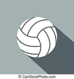 Volleyball ball flat icon