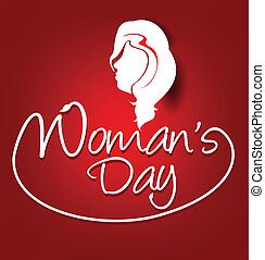 woman's day text background vector illustration