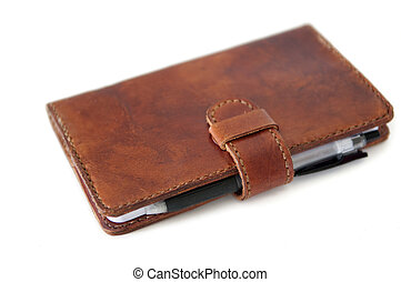 Leather diary system