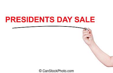 Presidents Day SALE word written