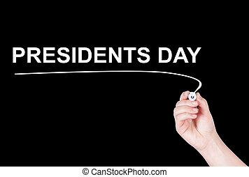 Presidents Day word written