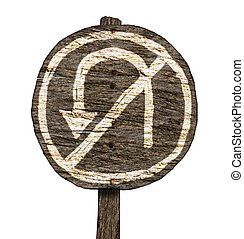 No U-Turn Sign (Isolated)