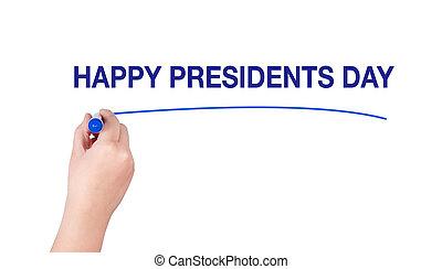 Happy Presidents Day word written