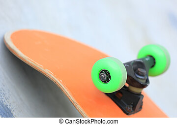 skateboard on skatepark