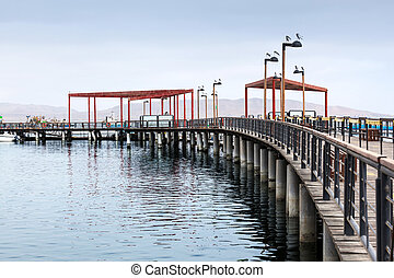 pier with wooden decking
