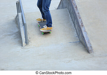 skateboard on skatepark