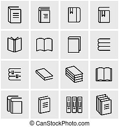 Vector line book icon set. Book Icon Object, Book Icon...