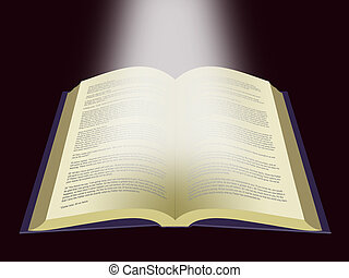 Book of Life - Word of God - An illustration of an open Holy...