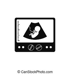 Ultrasound fetus icon - Ultrasound fetus black simple icon...