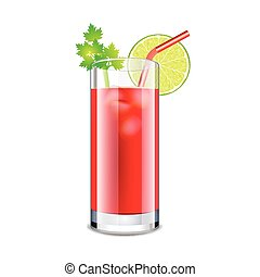 Bloody mary cocktail isolated on white vector - Bloody mary...