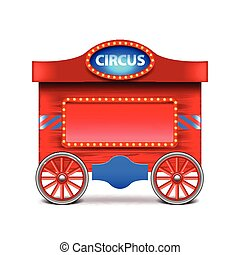 Circus wagon isolated on white vector - Circus wagon...