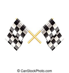 Rally flags isolated on white vector - Rally flags isolated...