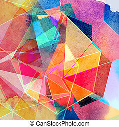 graphic abstract background with a geometry different...