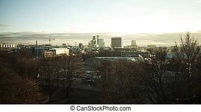 View of winter Tallinn city, Estonia skyline, overlooking...