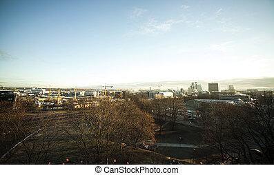 View of winter Tallinn city, Estonia skyline, overlooking...