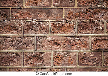 Red brick wall close up background. - Red brick wall close...